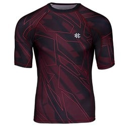 Short Sleeve Rashguard Shadow Red