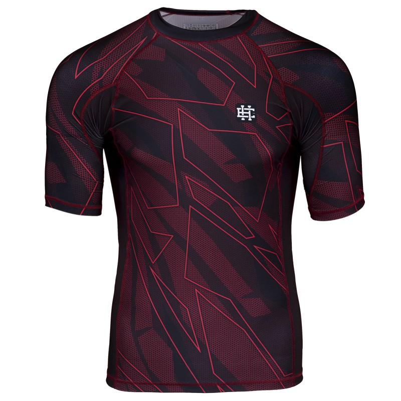 Extreme Hobby Short Sleeve Rashguard Shadow Red