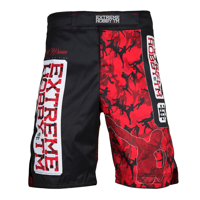 Extreme Hobby Spodenki Grappling Red Warrior Black