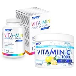Vita-Min Complex Sport 120tab + Vitamin C 250g