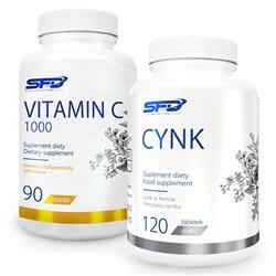 Vitamin C 1000 90 tabletek + Cynk 120 tabletek